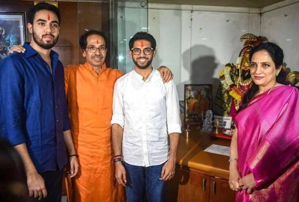 Aditya Thackeray family