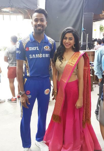 Actress with Hardik Pandya