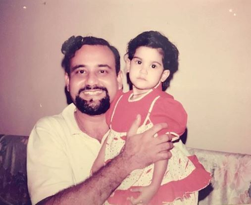 Childhood Photo with father