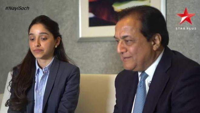 Roshini Kapoor with father Rana Kapoor