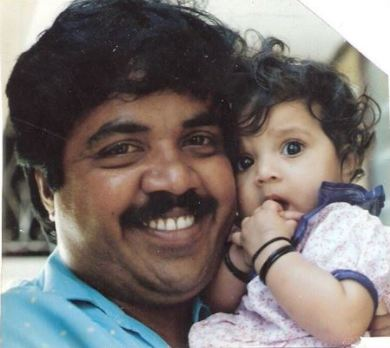 Meghana's childhood pic with father