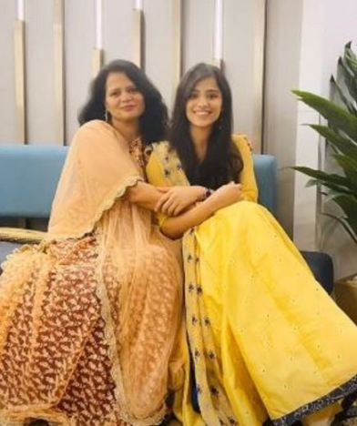Richa with her mother
