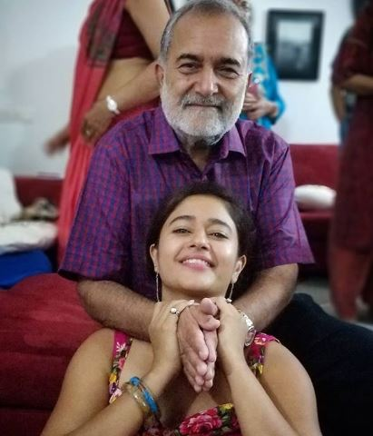 Poonam with father