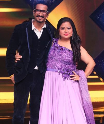 Harsh with wife Bharti Singh