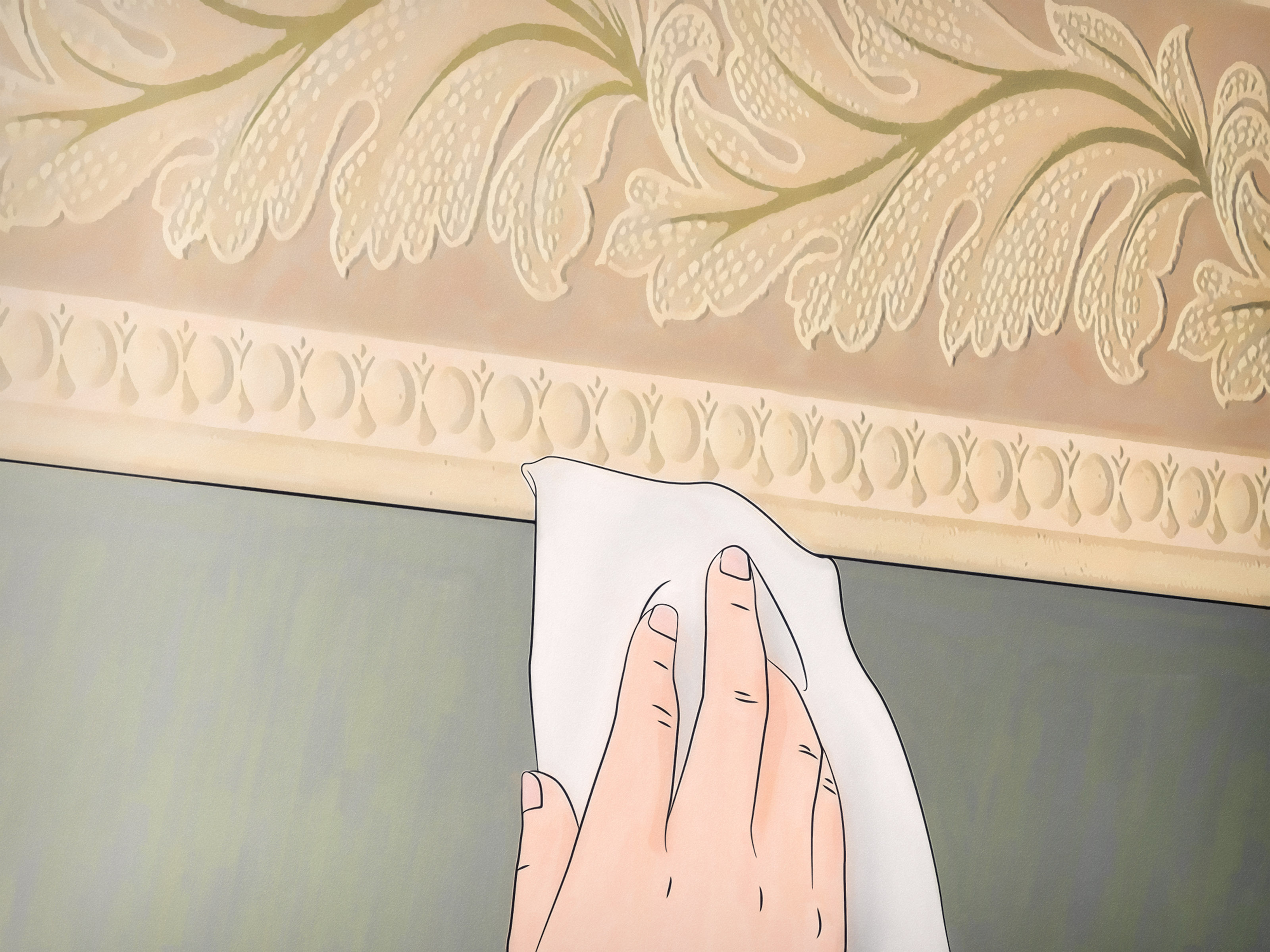 4 Ways To Install A Wallpaper Border Halfway Down The Wall