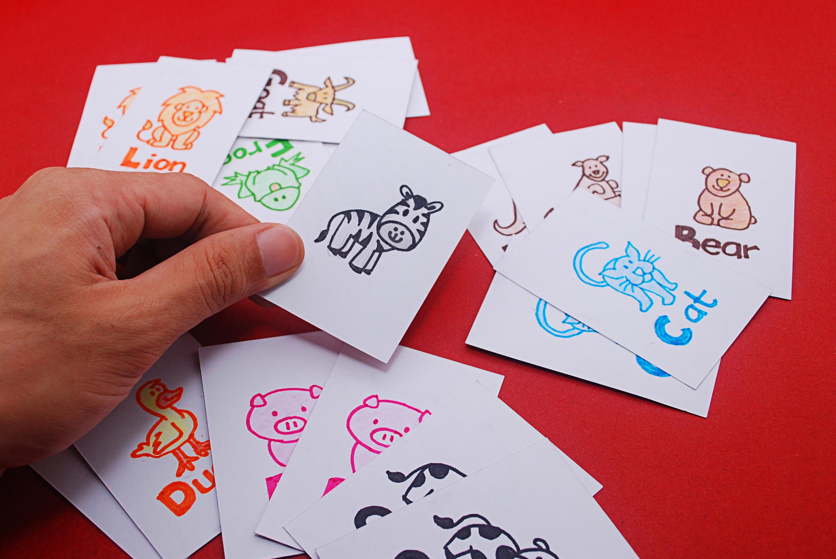 How To Make The Game Animal Match Up A Kids Card Game