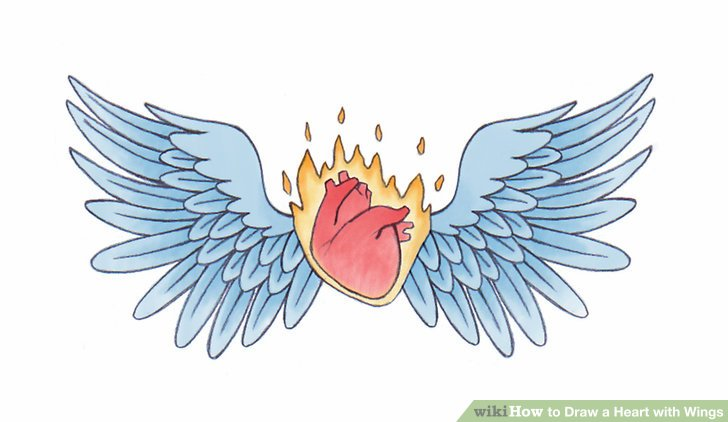 4 Ways To Draw A Heart With Wings