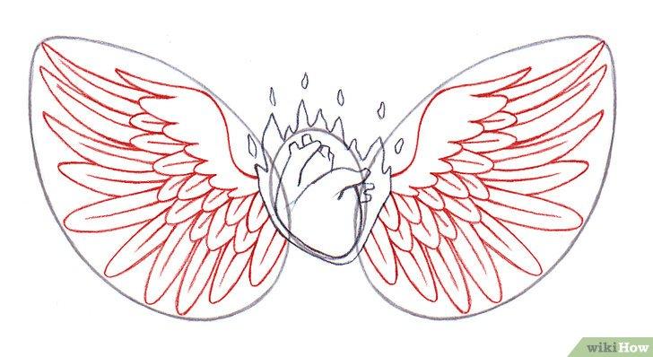 Comment Dessiner Un Cœur Avec Des Ailes: 14 étapes