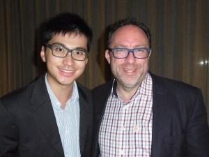 Jimbo and Deryck at Wikimania 2014. Photo: Thehelpfulone. Licence: CC-BY-SA-4.0