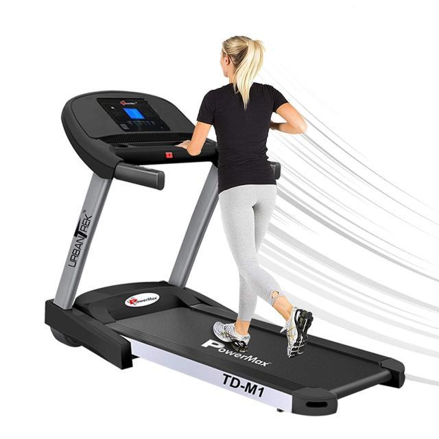 PowerMax Fitness TD-M1 2HP (4HP Peak) Pre-installed Motorized Treadmill