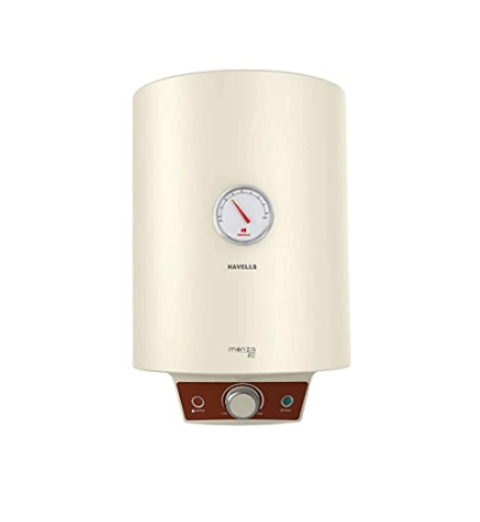 Havells Monza EC 10 10-Litre Storage Water Heater with Flexi Pipe (Ivory)