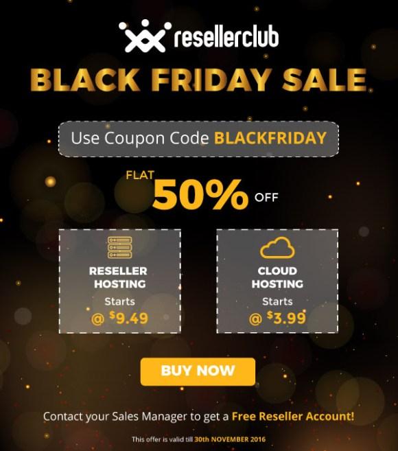 ResellerClub Black Friday Offer 2016, resellerclub black friday discount 2016, reseller club cloud hosting offer 2016