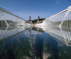 Glass Bridge Located In China