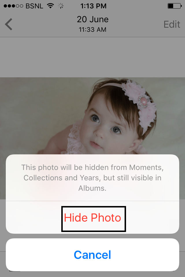 Hide your Photos