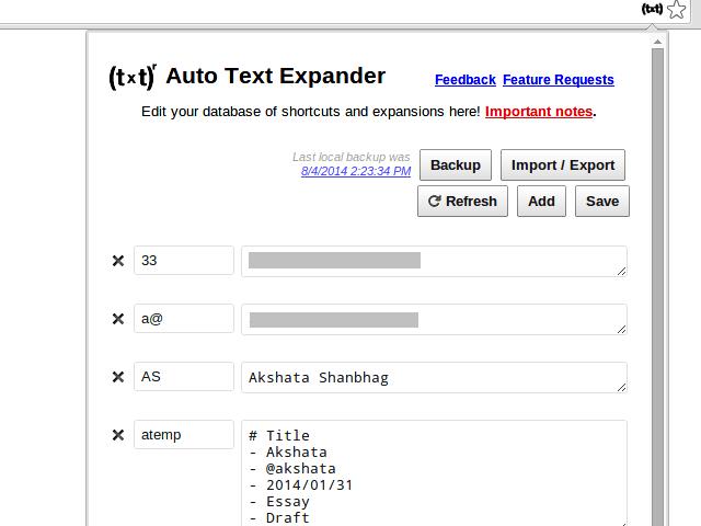 Auto Text Expander