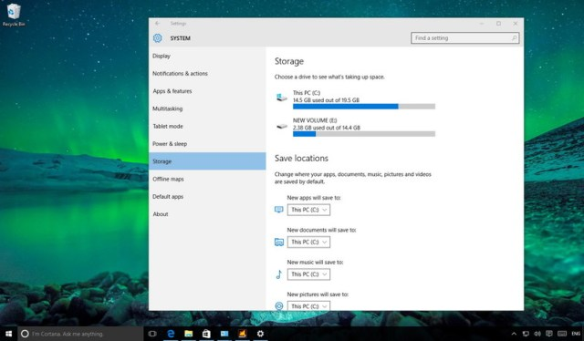 Hard drive Usage on Windows 10