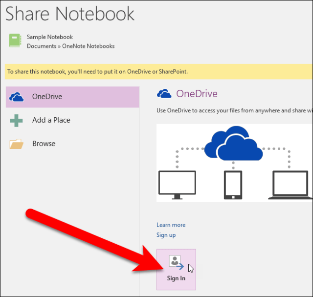 OneNote to OneDrive