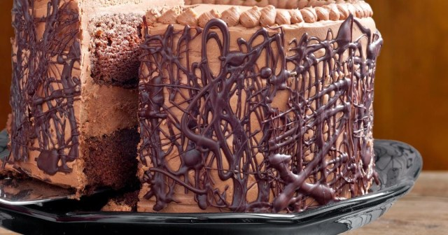 Chocolate Cake with Whipped Fudge Filling and Chocolate Butter cream