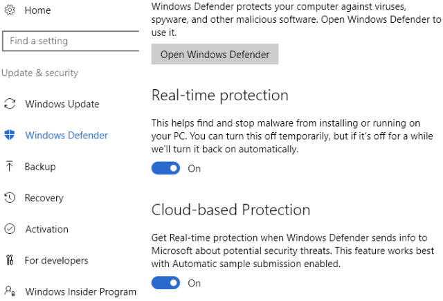 Disable Windows Defender with 3rd Party AV