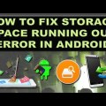 How to Fix Storage Space Running Out Error on Android