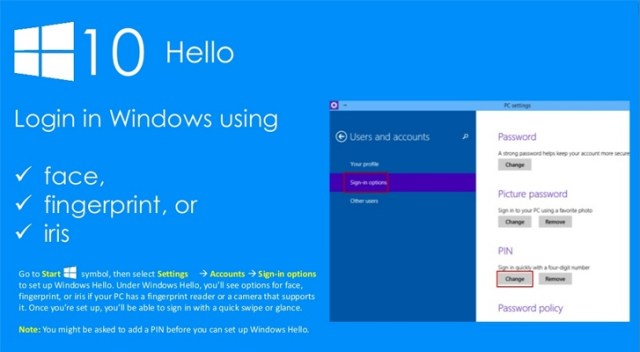 Fingerprint security in Windows 10