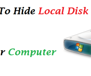How to Hide Local Disk Drive of Computer without any Softwares
