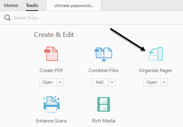 Move PDF Pages Around