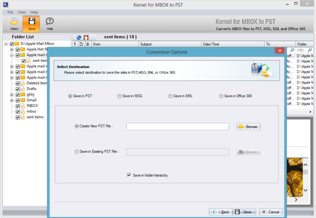 New or Existing PST file