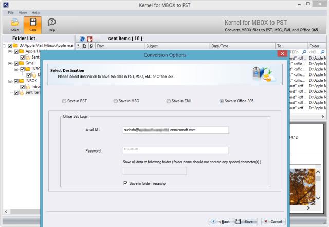 SAVING MBOX ON CLOUD-BASED OFFICE 365 USER ACCOUNTS