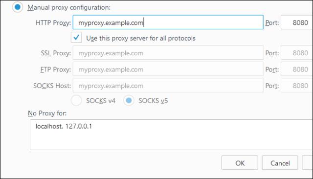 configure a proxy server
