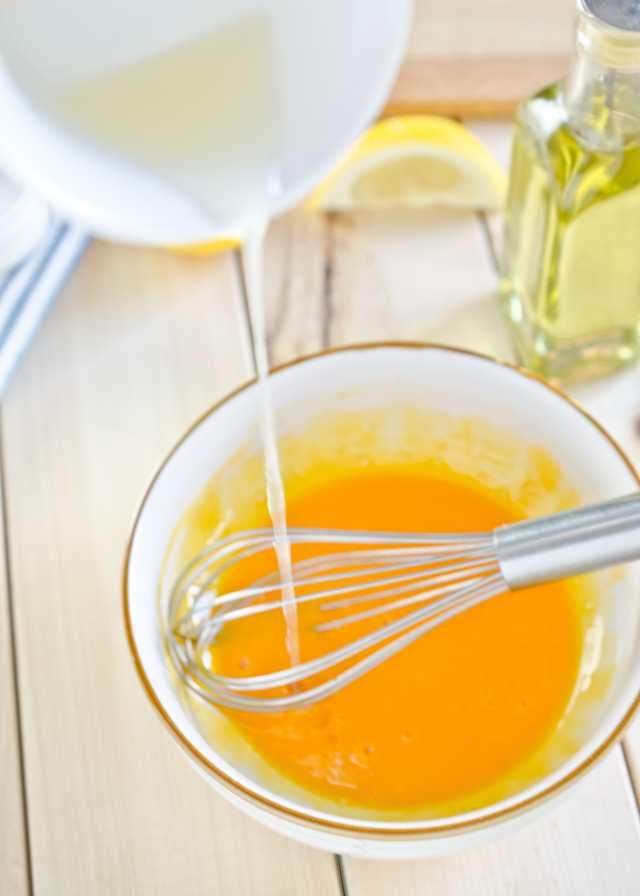 Add Lemon juice with Egg Yolk