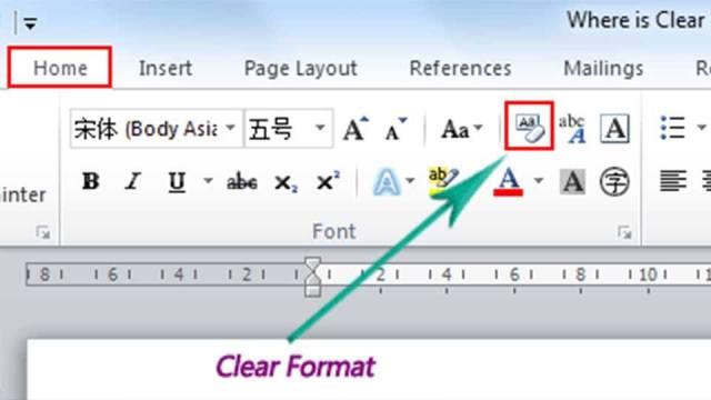 Clear Formatting