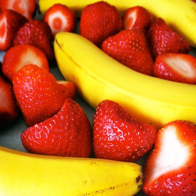 Strawberry and banana