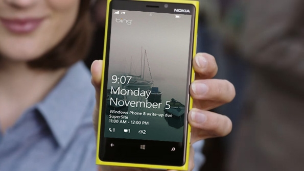 lock screen on windows phone