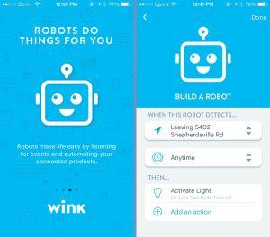 Wink Robot App