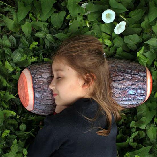 Log Pillow by Kikkerland