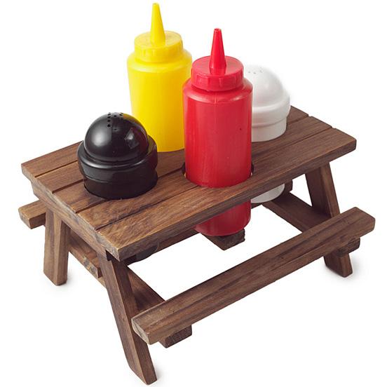 Picnic Table Condiment Set