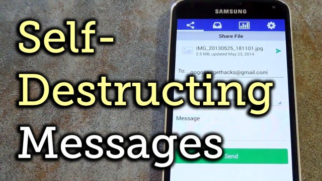 Self-Destructing Messaging Apps for iPhone and Android