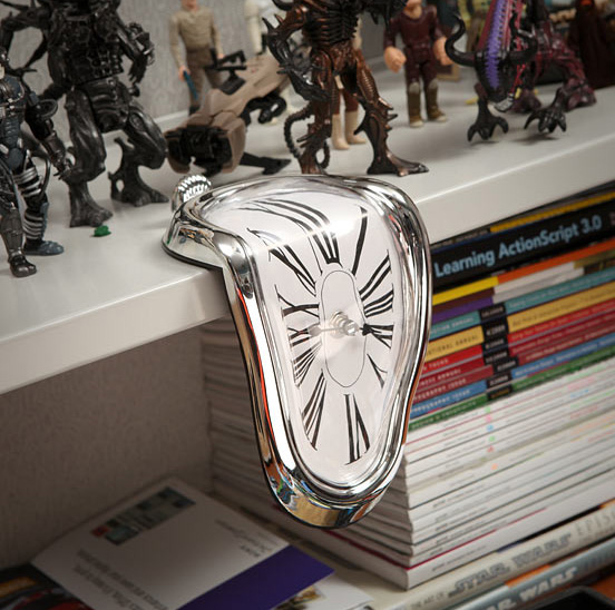 Time Warp Shelf Clock