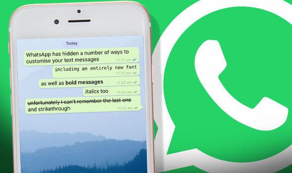 Send secret message on whatsapp