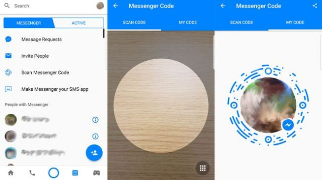 share a messenger code