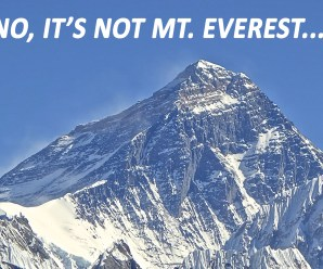 Mount Everest Is Not The Highest Mountains On The Earth