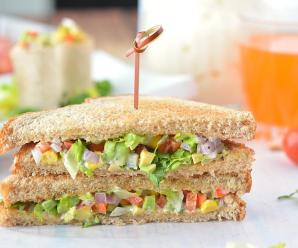 Avocado Corn Sandwich Recipe