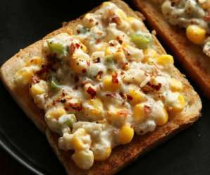 How to prepare Simple Corn Cheese Toast at home? – Kids Evening Snack