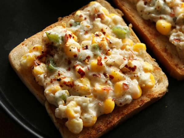 Corn Cheese Toast
