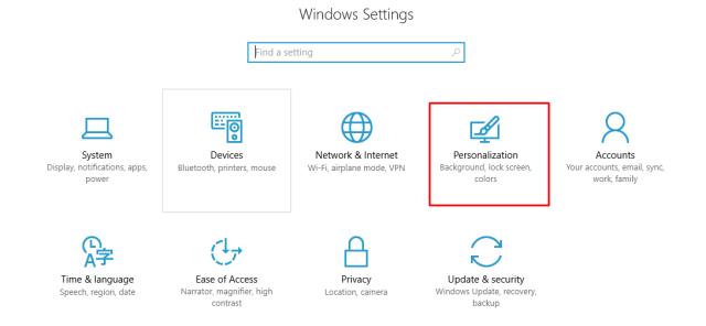 Windows10 Personalisation