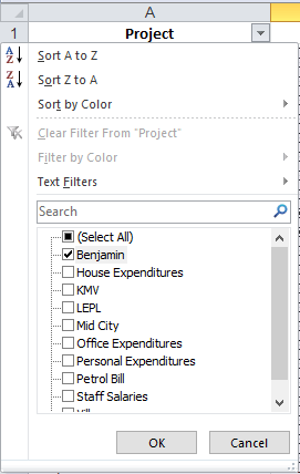 Select from Drop Down list