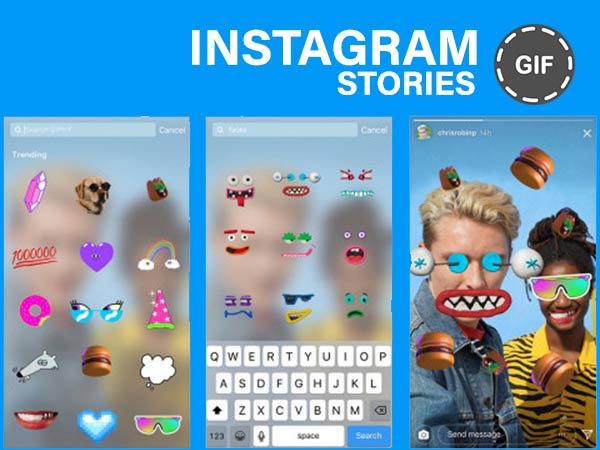 GIF Stickers on Instagram Stories