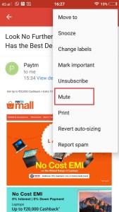 Gmail Mute Option