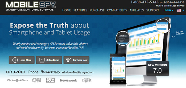 MobileSpy Track all Phone Data